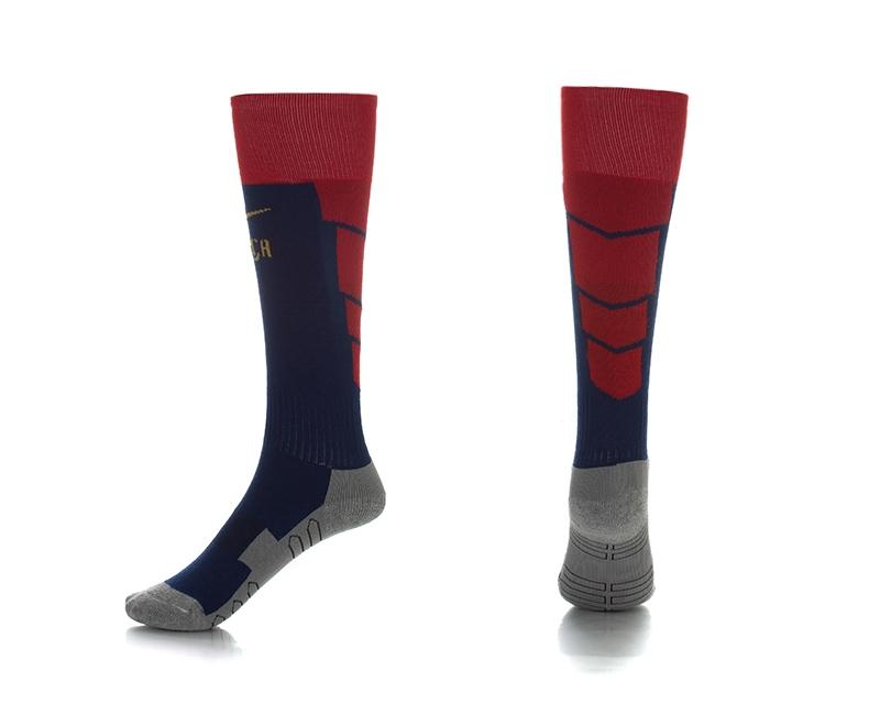 Barcelona Home Youth Soccer Socks03