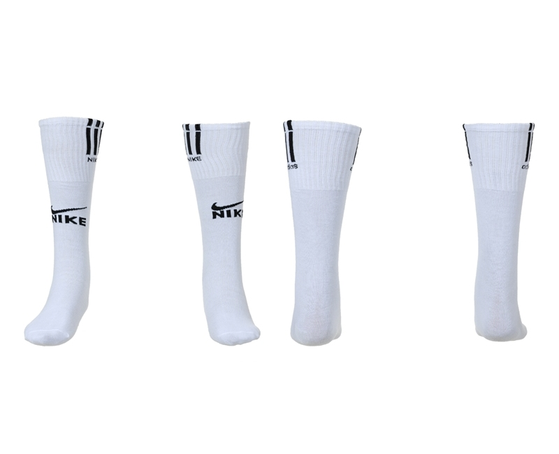 Nike White Youth Soccer Socks02