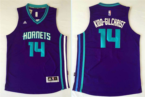 Hornets 14 Kidd Gilchrist Purple Swingman Jersey
