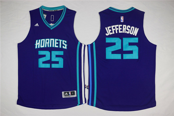 Hornets 25 Al Jefferson Purple Swingman Jersey