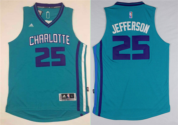 Hornets 25 Al Jefferson Teal Swingman Jersey
