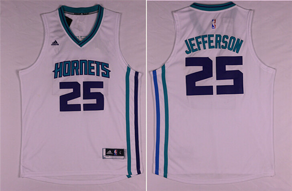 Hornets 25 Al Jefferson White Swingman Jersey
