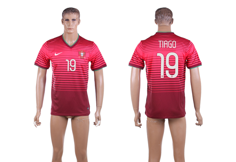 2015-16 Portugal 19 TIAGO Home Thailand Jersey