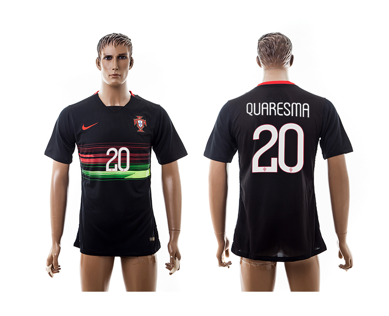 2015-16 Portugal 20 QUARESMA Away Thailand Jersey