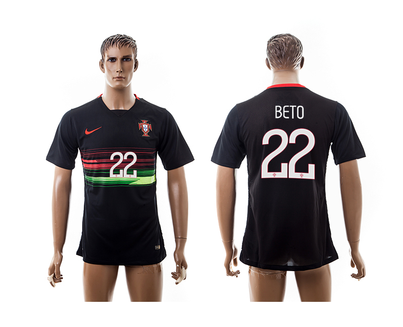 2015-16 Portugal 22 BETO Away Thailand Jersey