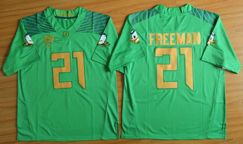 Oregon Ducks 21 Royce Freeman Green College Jersey