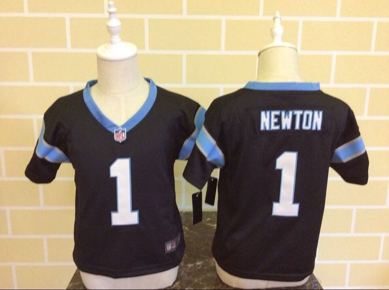 Nike Panthers 1 Cam Newton Black Toddler Game Jersey