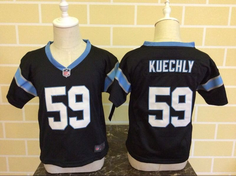 Nike Panthers 59 Luke Kuechly Black Toddler Game Jersey