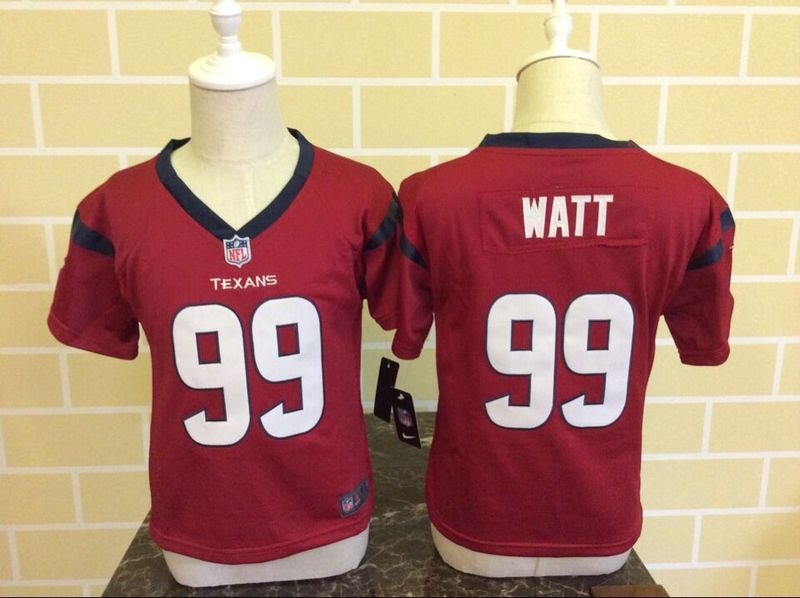 Nike Texans 99 J.J. Watt Red Toddler Game Jersey