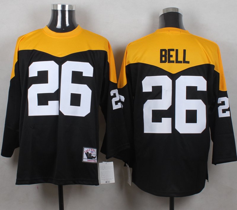 Steelers 26 Le'Veon Bell Black Throwback Jersey