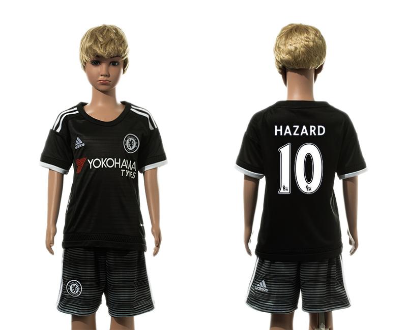 2015-16 Chelsea 10 HAZARD Third Away Youth Jersey