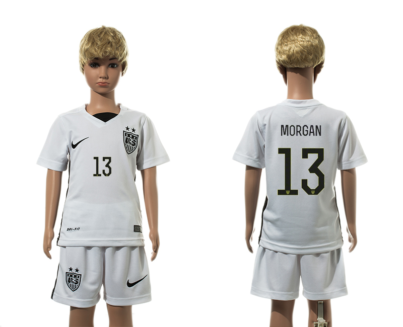 2015-16 USA 13 MORGAN Home Youth Jersey