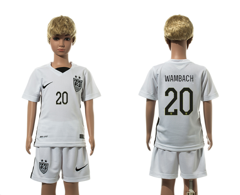 2015-16 USA 20 WAMBACH Home Youth Jersey