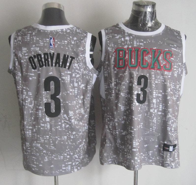 Bucks 3 Johny O'Bryant Grey City Luminous Jersey