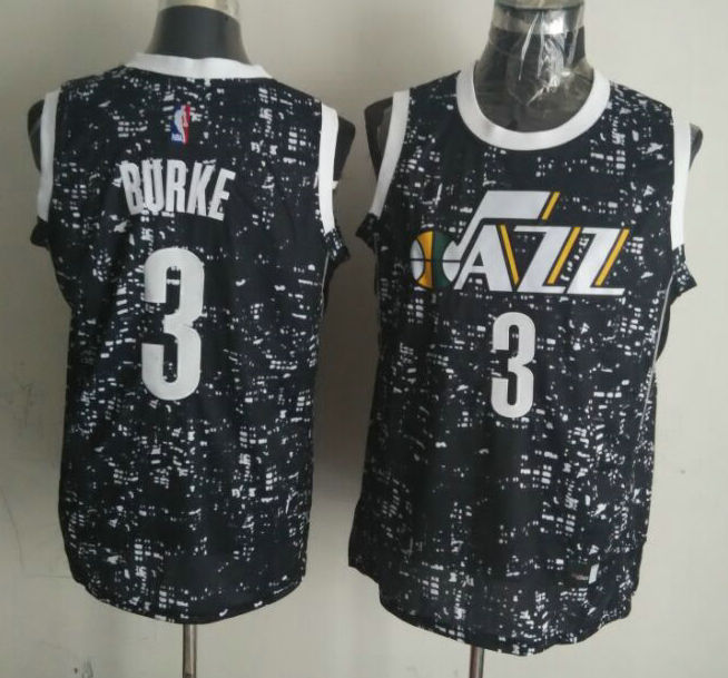 Jazz 3 Trey Burke Black City Luminous Jersey