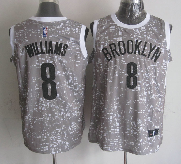 Nets 8 Deron Williams Grey City Luminous Jersey