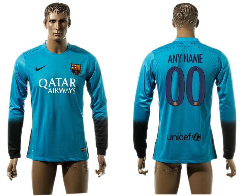 2015-16 Barcelona Customized Third Away Thailand Jersey