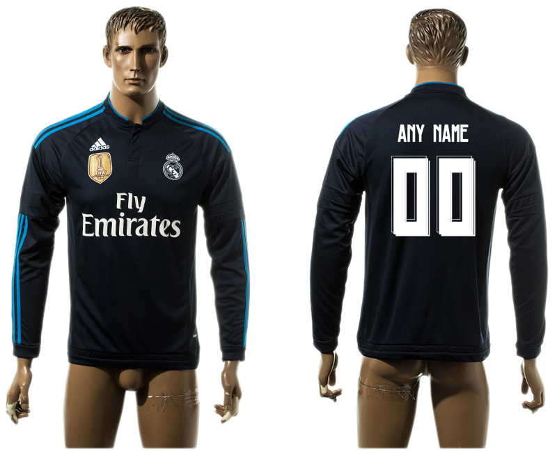 2015-16 Real Madrid Customized Third Away Thailand Jersey