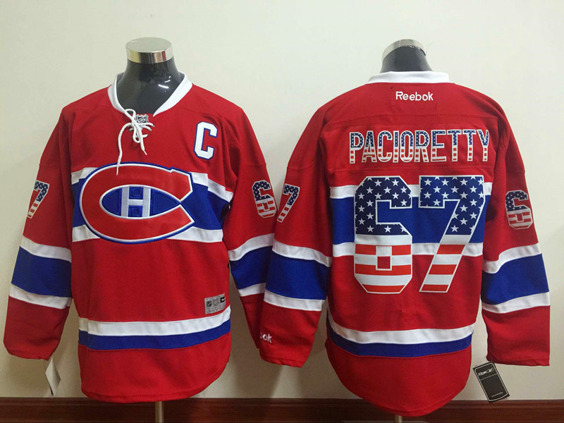 Canadiens 67 Max Pacioretty Red USA Flag Reebok Jersey