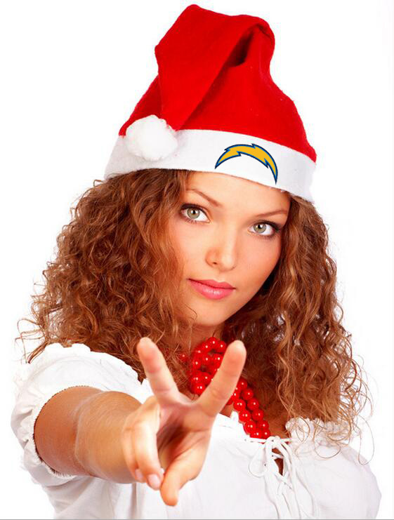 Chargers NFL Logo Santa Hat