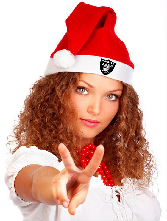 Raiders NFL Logo Santa Hat