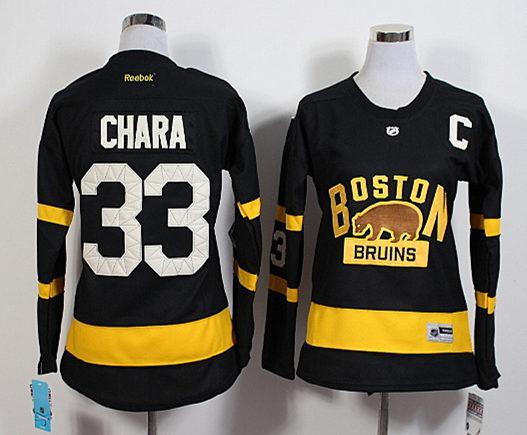 6817fb28178 Bruins 33 Zdeno Chara Black 2016 Winter Classic Reebok Women Jersey