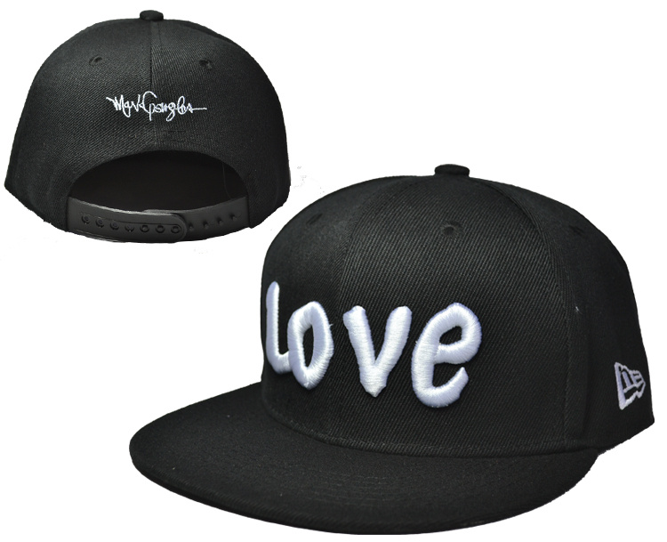 Love Black Adjustable Kid Cap