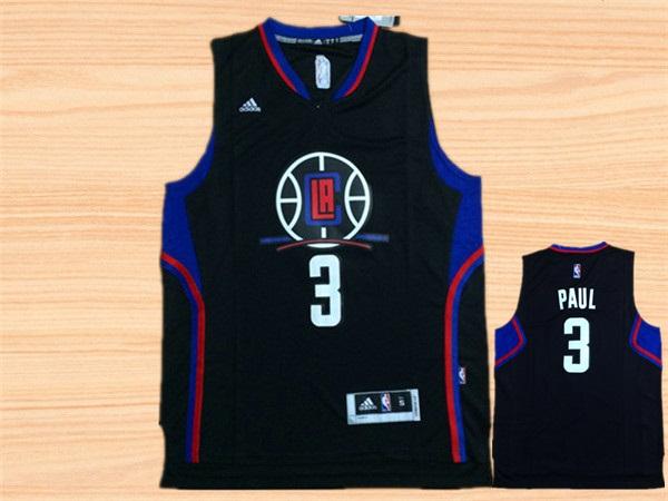 Clippers 3 Chris Paul Black Swingman Jersey