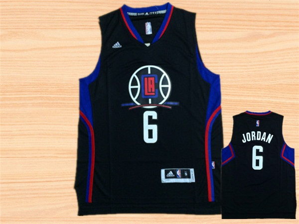 Clippers 6 DeAndre Jordan Black Swingman Jersey