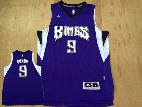 Kings 9 Rajon Rondo Purple Swingman Jersey