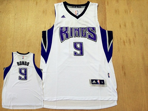Kings 9 Rajon Rondo White Swingman Jersey