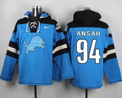 Nike Lions 94 Ezekiel Ansah Light Blue Hooded Jersey