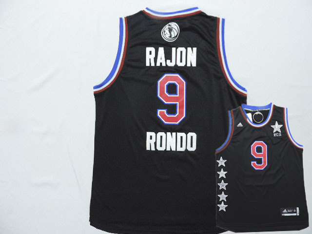 2015 NBA All Star NYC Western Conference 35 Rajon Rondo Black Jerseys