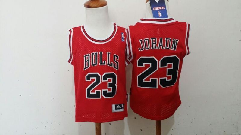 Bulls 23 Jordan Red Toddler Jerseys