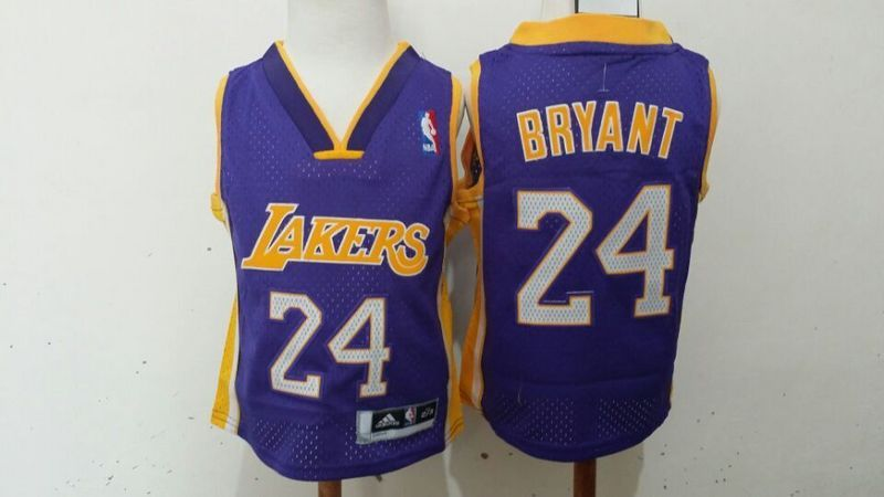 Lakers 24 Kobe Bryant Purple Toddler Jersey