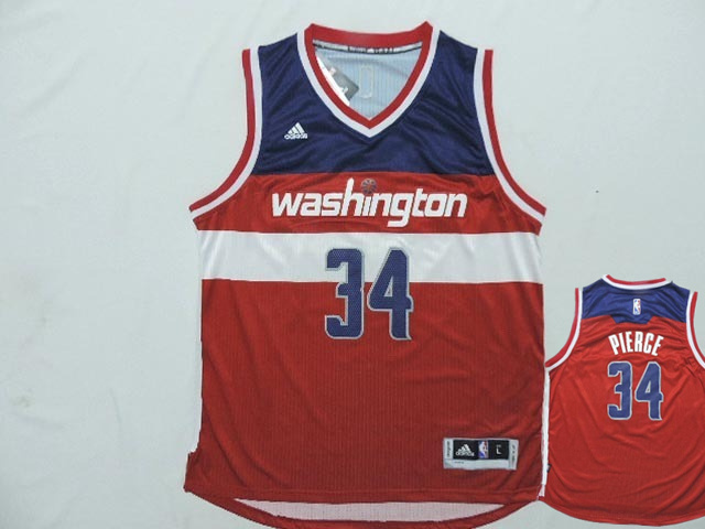 Wizards 34 Pierce Red New Revolution 30 Jerseys