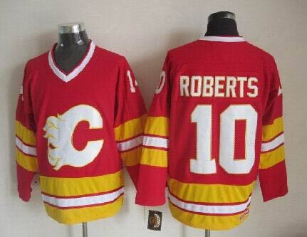 Flames 10 Roberts Red CCM Jerseys