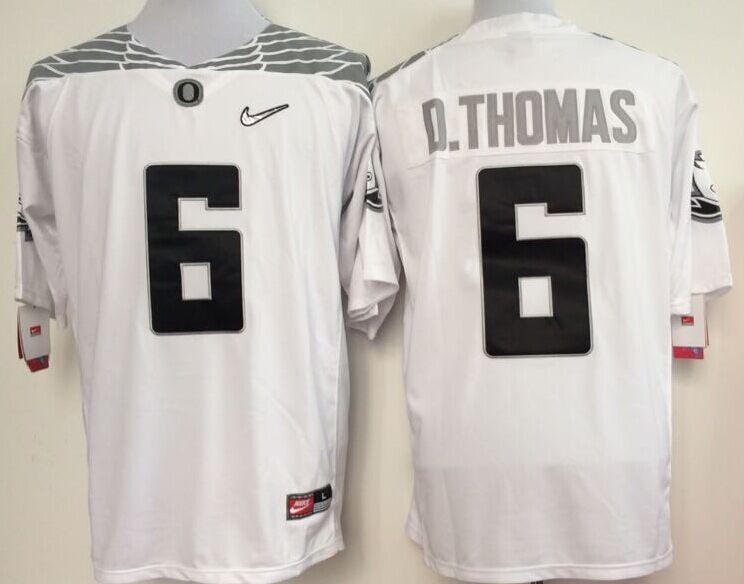 Oregon Ducks 6 D.Thomas White College Jerseys