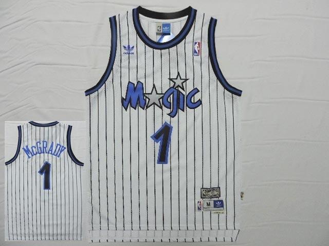 Magic 1 McGrady White Hardwood Classics Jersey