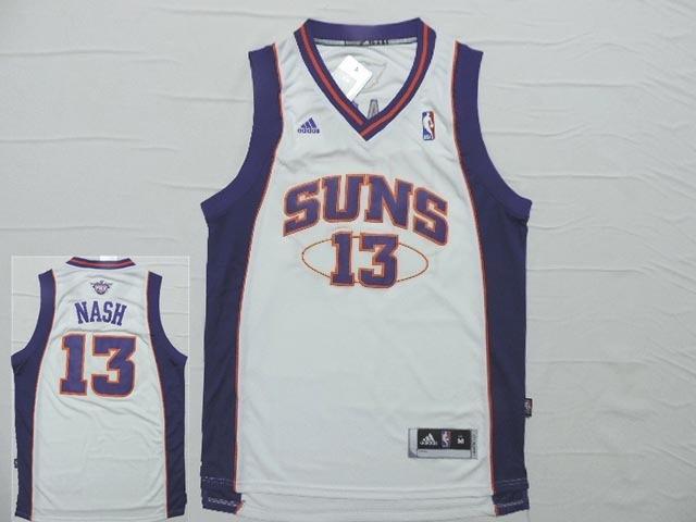 Suns 13 Nash White New Revotion 30 Jersey