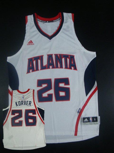Hawks 26 Kyle Korver White New Revolution 30 Jersey
