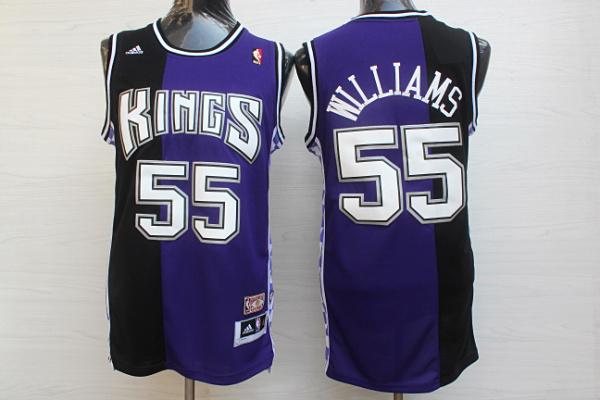 Kings 55 Williams Black&Purple Hardwood Classics Jersey