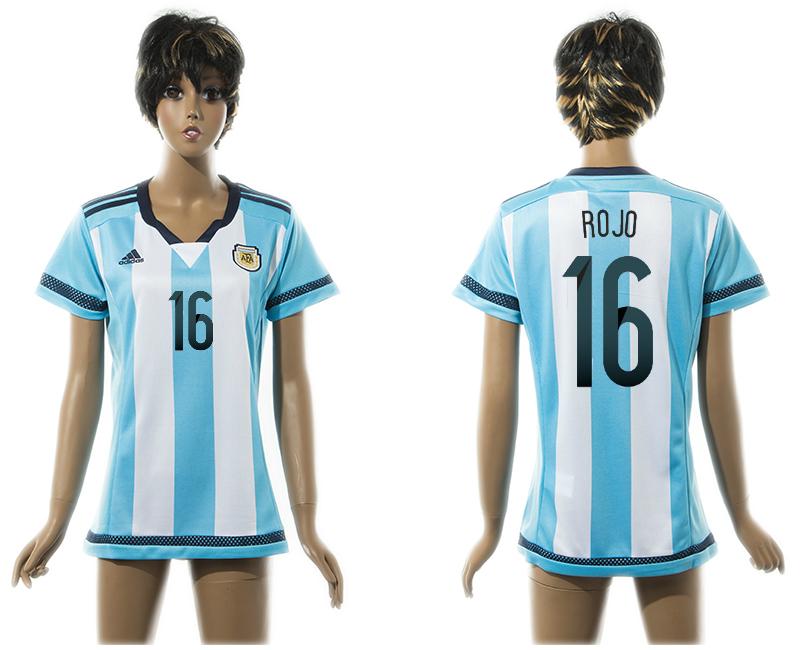 2015-16 Argentina 16 ROJO Home Women Thailand Jersey