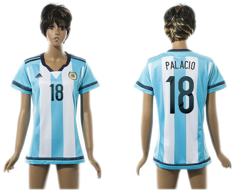 2015-16 Argentina 18 PALACIO Home Women Thailand Jersey