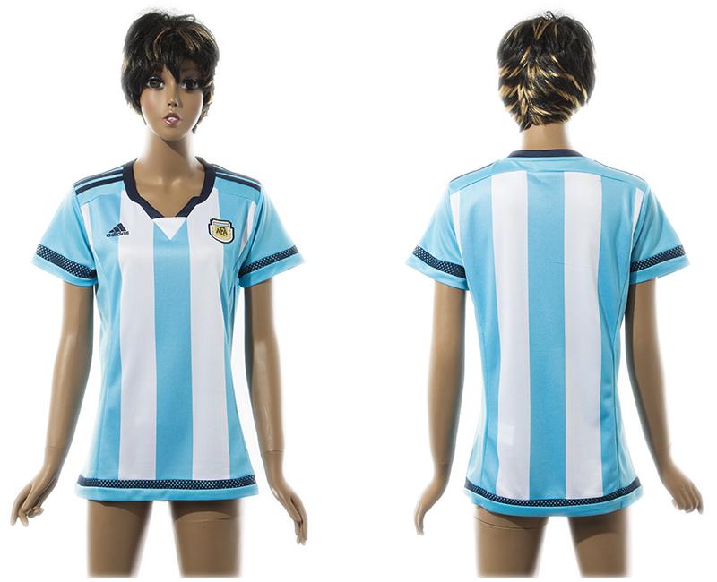 2015-16 Argentina Home Women Thailand Jersey