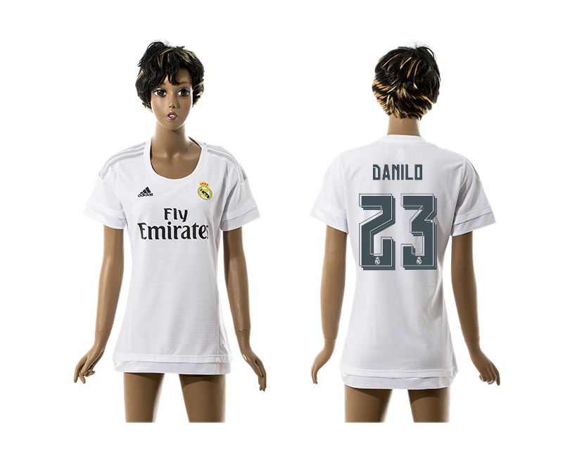 2015-16 Real Madrid 23 DANILO Home Women Thailand Jersey