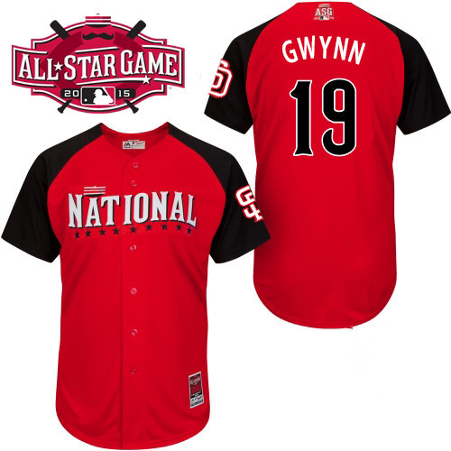 National League Padres 19 Gwynn Red 2015 All Star Jersey