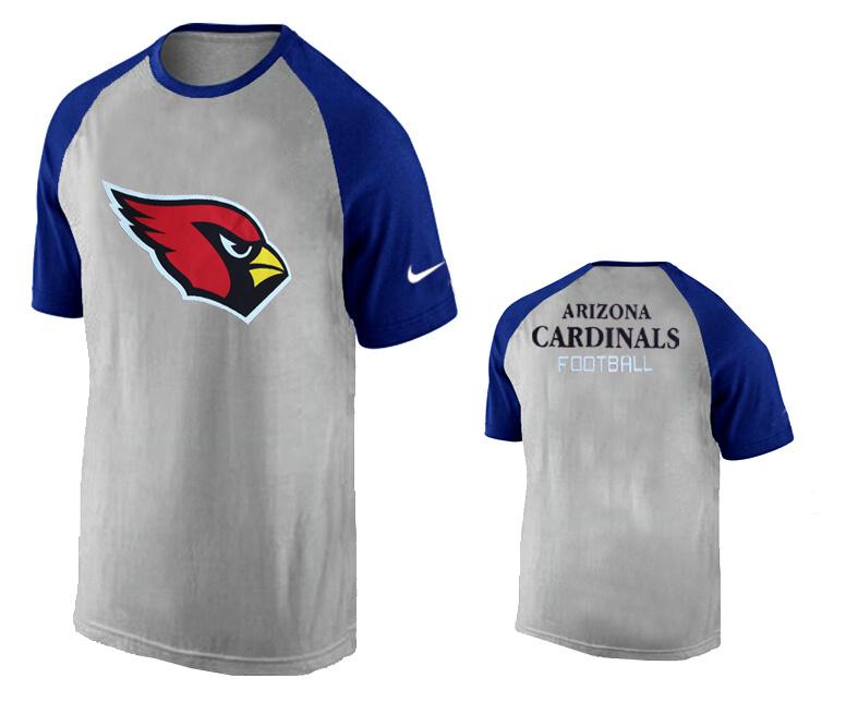 Nike Arizona Cardinals Ash Tri Big Play Raglan T Shirt Grey15
