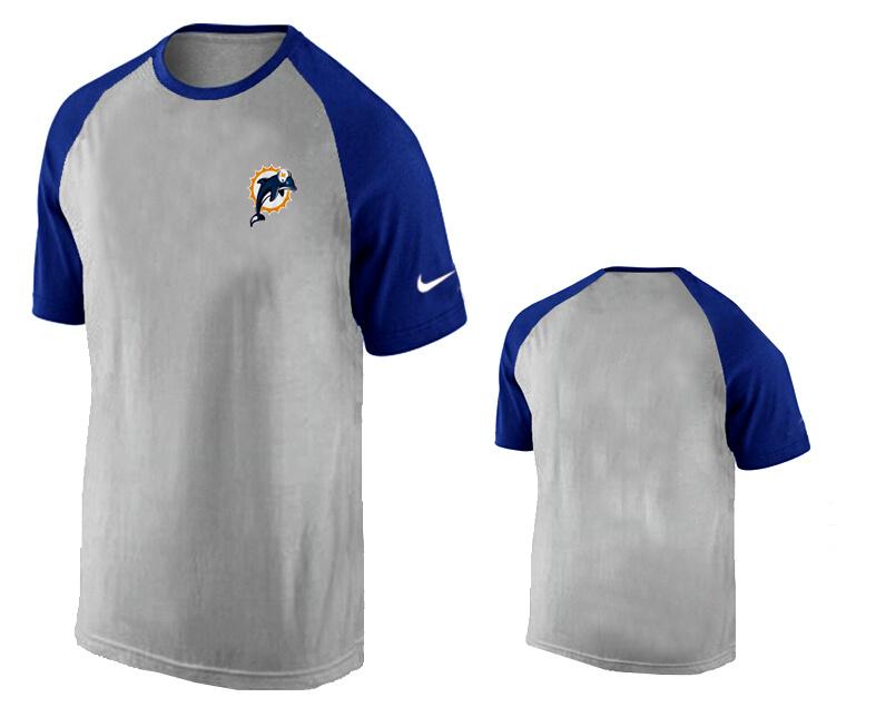 Nike Miami Dolphins Ash Tri Big Play Raglan T Shirt Grey11