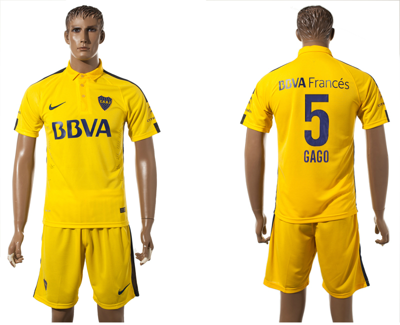 2015-16 Boca Juniors 5 GAGO Away Jersey